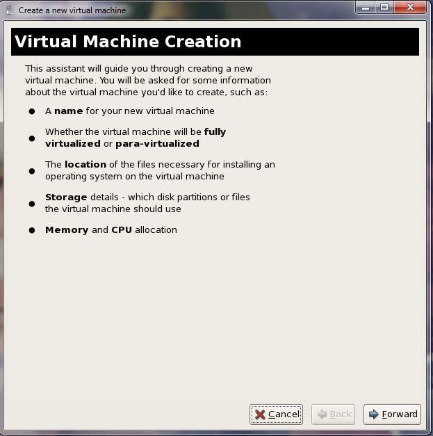 xen server start new vm