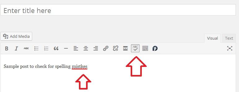 WP Post editor grammar check