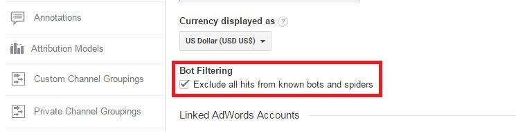 bot filtering in analytics