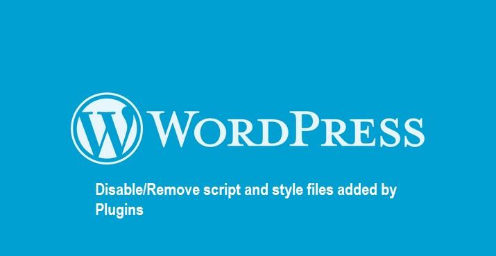 dequeue wp plugin script file