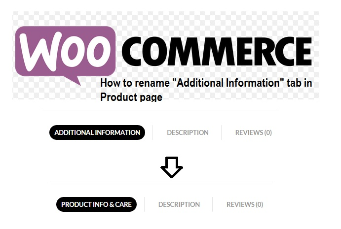 9a907abd3ad How to Rename Additional Information tab in WooCommerce Product Page ...