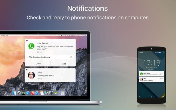 mobile notifications on computer