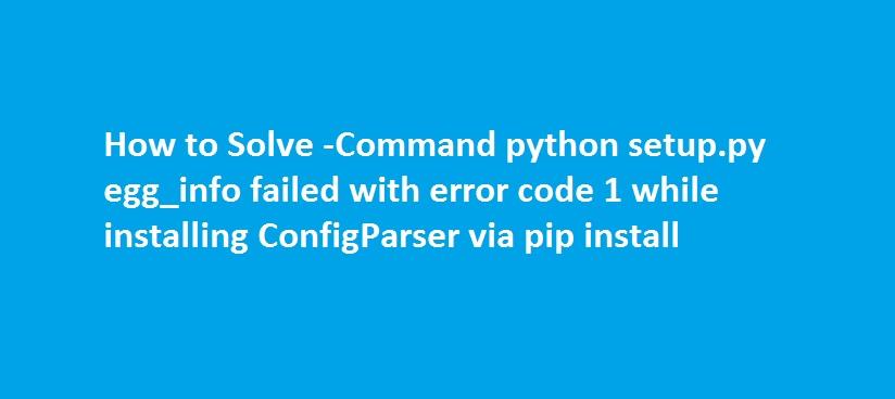 python module install error