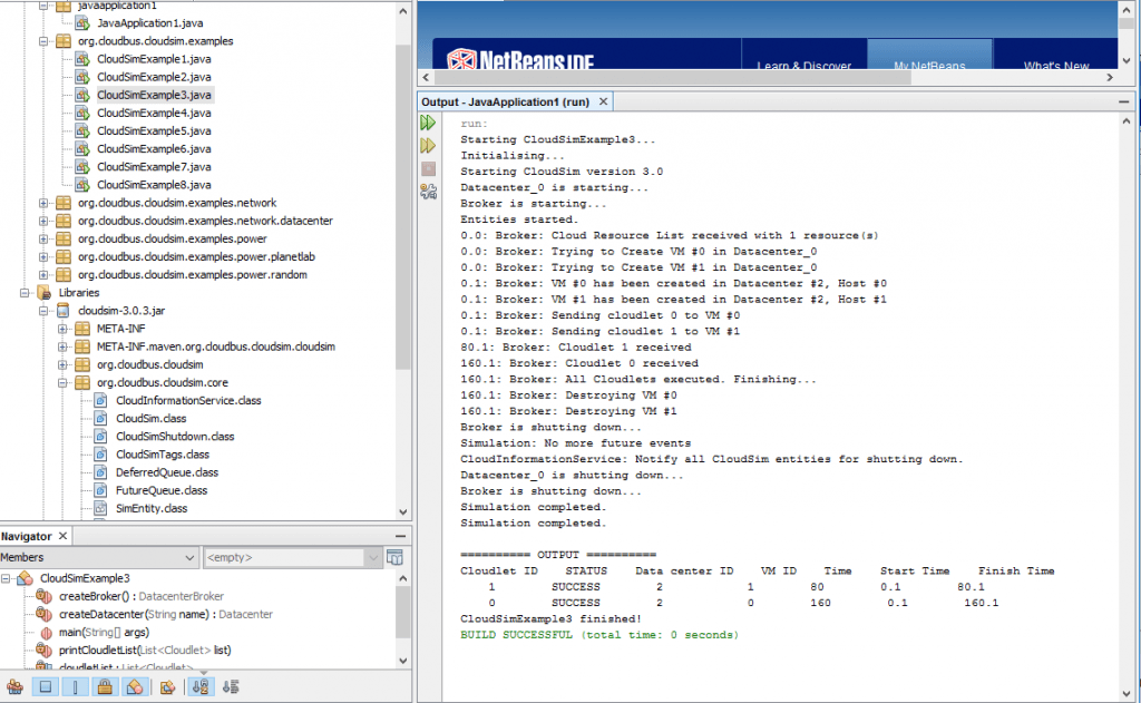 netbeans cloudsim simulator