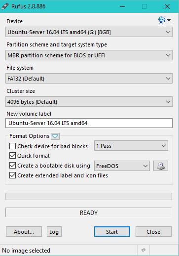 Rufus-create bootable USB flash drives