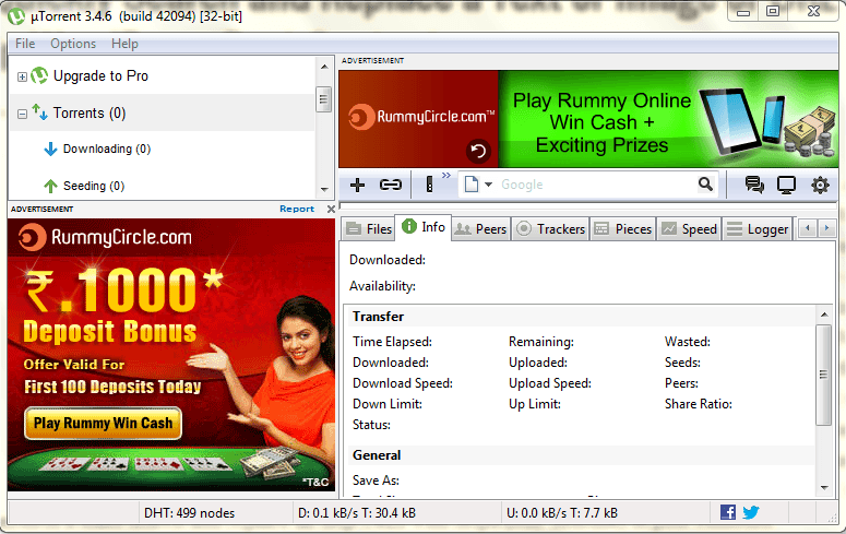 disable ads in torrent