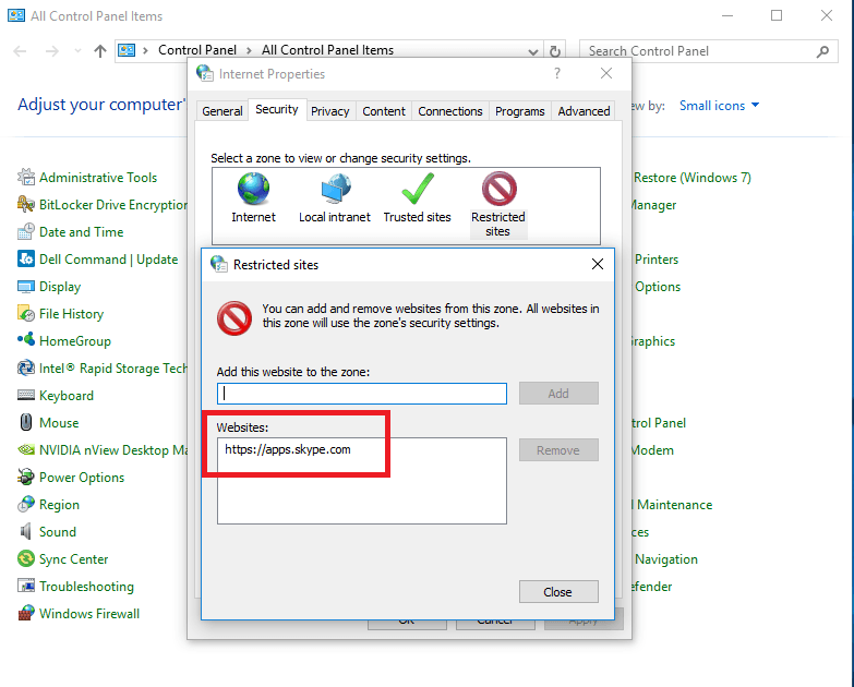 disable advertisement skype