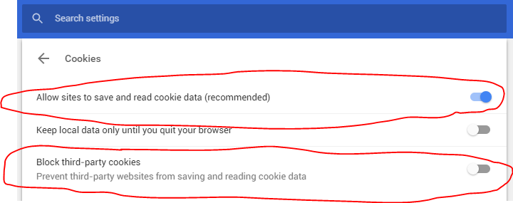 Chrome-cookie-settings