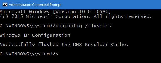 Flush DNS through Command Line