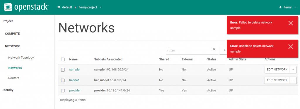 openstack error