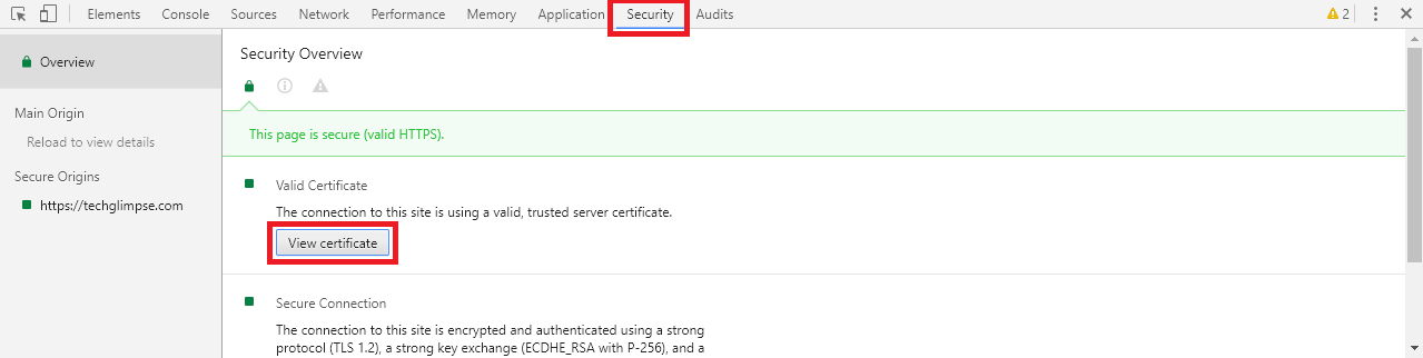 How To View Ssl Certificate Information In Chrome 56 Techglimpse