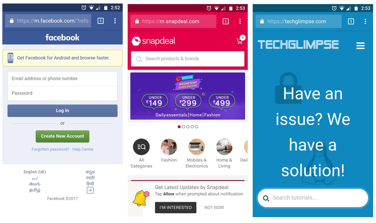 Change Chrome address bar color to match Website Theme - Techglimpse