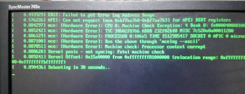 Bios error