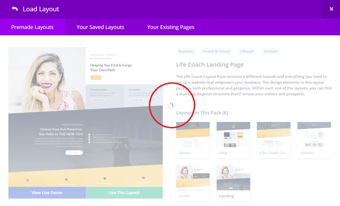 Unable To Download Premade Layouts In Divi For Wordpress Solution Techglimpse
