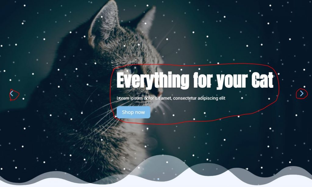 Snow Falling Effect on Divi Slider using Pure CSS