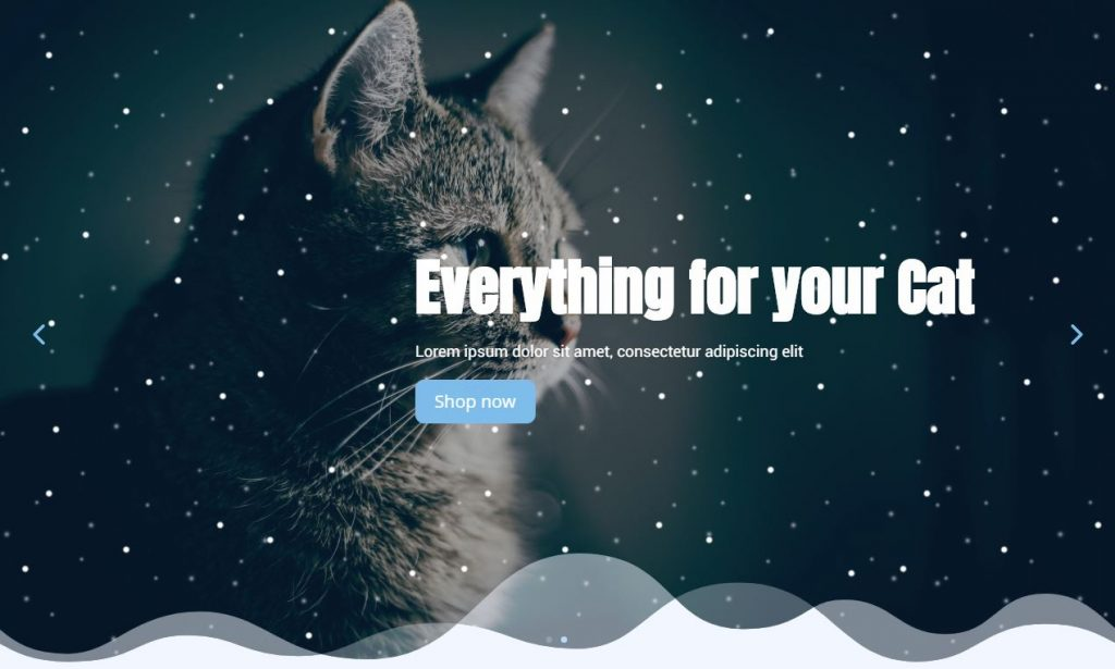 Snow falling Effect on Slider in Divi using Pue CSS