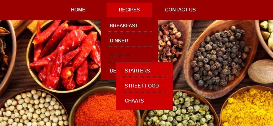 Multilevel menu css