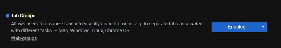 Tabs Group Google Chrome