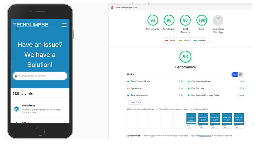 Lighthouse audit score techglimpse