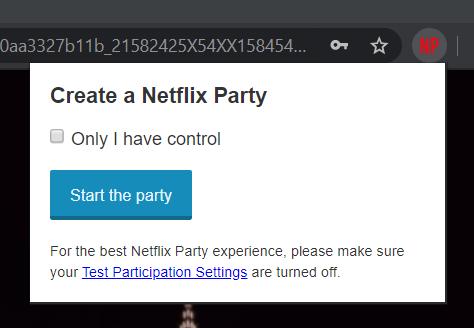 Create a Netflix Party