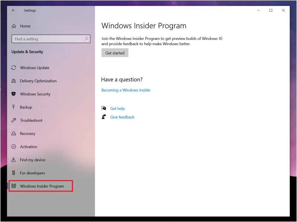 How to signup for Windows Insider Program