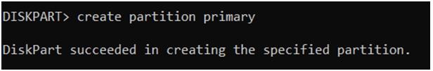 creatcreate single large partition diskparte single large partition diskpart