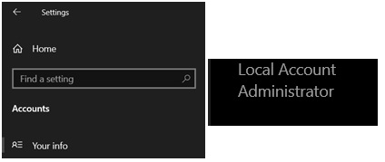 windows 10 account info