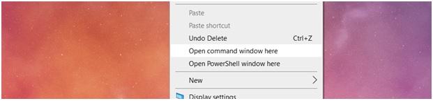 windows10 command prompt menu