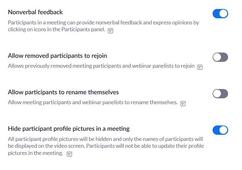 disable rejoin meetings
