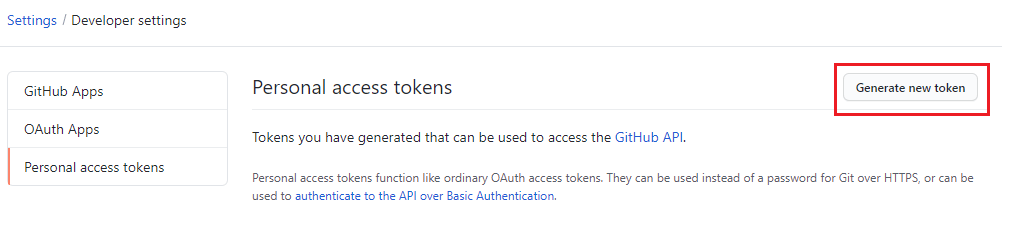 git push using GitHub token