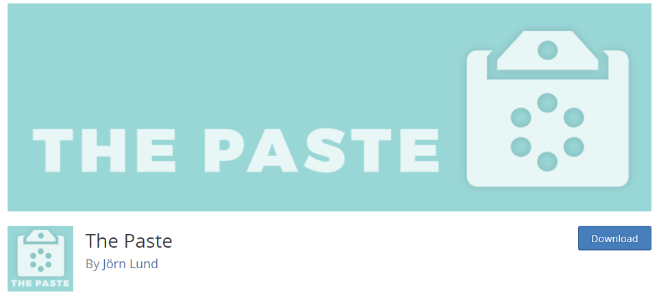 The Paste - WordPress Plugin